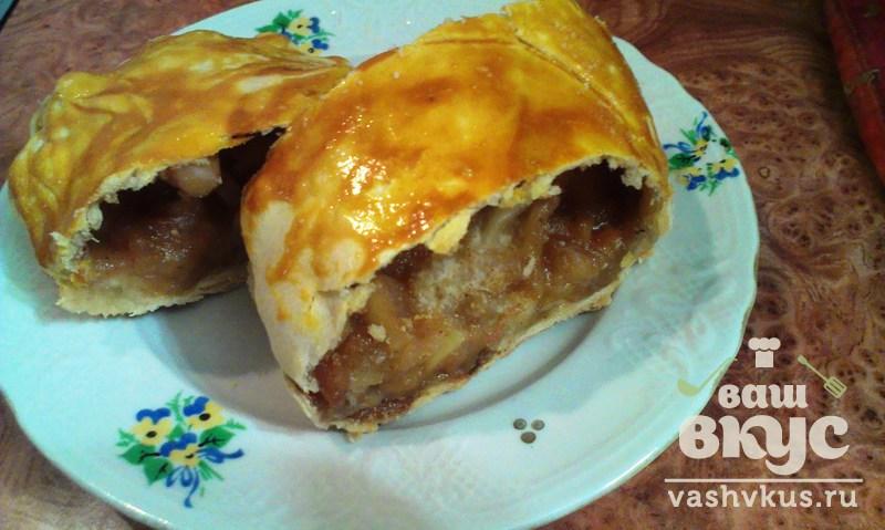Яблочный штрудель рецепт с пошагово в духовке