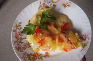 Запеченный картофель с помидорами (пошаговый фото рецепт)