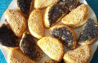 Сладкое сырное печенье с маком и кунжутом (пошаговый фото рецепт)