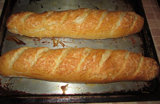 Французский багет с сыром (пошаговый фото рецепт)