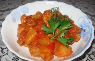 Тушеная свинина с овощами (пошаговый фото рецепт)