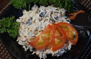 Салат из курицы, сельдерея и яблока (пошаговый фото рецепт)