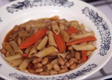 Пенне в бобово - овощном соусе (пошаговый фото рецепт)