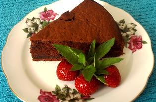 Шоколадный бисквит на сметане (пошаговый фото рецепт)