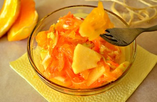 Овощной салат с апельсином (пошаговый фото рецепт)