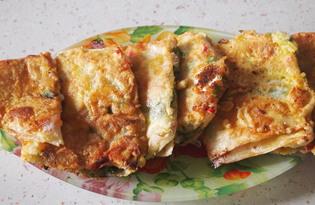 Восточные гренки из лаваша (пошаговый фото рецепт)