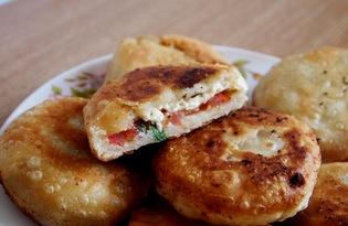 Пирожки - бомбочки с брынзой (пошаговый фото рецепт)