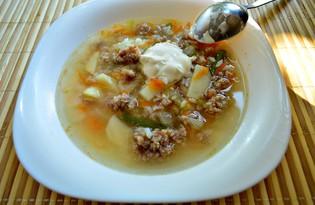 Овощной суп с рисом и фаршем (пошаговый фото рецепт)