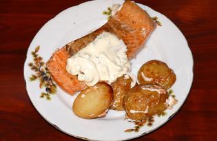 Кижуч, запечённый с картофелем (пошаговый фото рецепт)