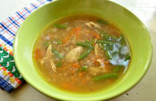 Куриный суп с гречкой и стручковой фасолью (пошаговый фото рецепт)