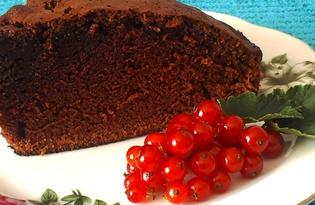 Пышный шоколадный кекс (пошаговый фото рецепт)