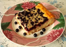Наливной пирог с ягодами (пошаговый фото рецепт)
