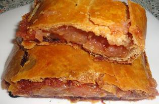 Штрудель с яблочно - медовой начинкой (пошаговый фото рецепт)