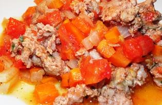 Мясная подлива к макаронам (пошаговый фото рецепт)