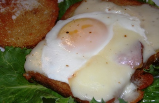 Тост с яйцом на сковороде (пошаговый фото рецепт)