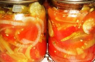 Овощной салат на зиму (пошаговый фото рецепт)