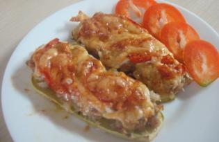 Кабачки с фаршем под сыром из духовки (пошаговый фото рецепт)