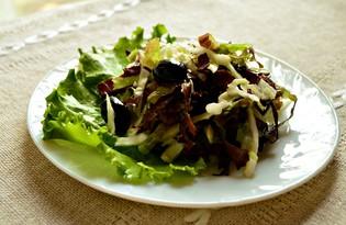 Летний витаминный салат с капустой и маслинами (пошаговый фото рецепт)