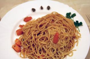 Паста с тыквой в томатном соусе (пошаговый фото рецепт)