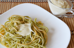 Спагетти с соусом «Бешамель» (пошаговый фото рецепт)