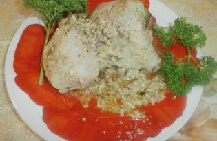Мясо под майонезом с грецкими орехами (пошаговый фото рецепт)