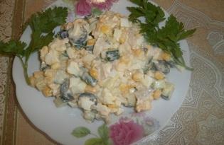 """Салат с куриным филе и огурцом """"Для любимых"""" (пошаговый фото рецепт)"""