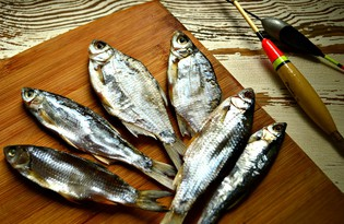 Рыбка сушеная к пиву (пошаговый фото рецепт)