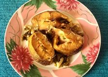 Терпуг, запеченный со сметаной и зеленью (пошаговый фото рецепт)