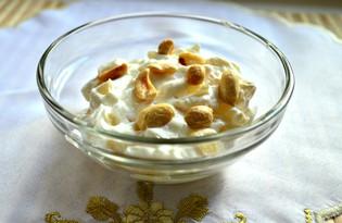 Творог с ананасом и арахисом (пошаговый фото рецепт)