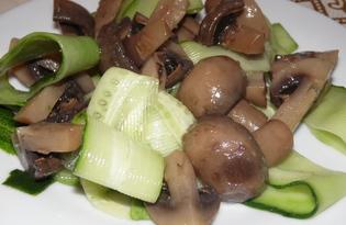 Салат с огурцом и маринованными шампиньонами (пошаговый фото рецепт)