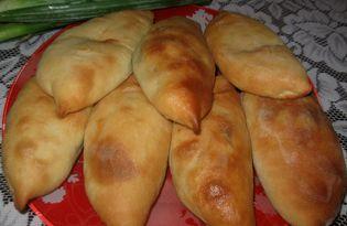 Печеные пирожки с яйцом и зеленью (пошаговый фото рецепт)