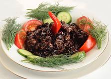 Свинина с грибами и черным рисом (пошаговый фото рецепт)