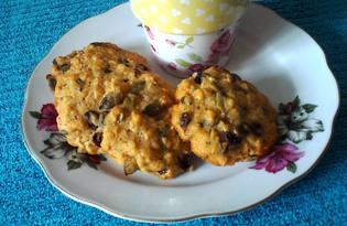 Овсяное печенье с тыквенными семечками и изюмом (пошаговый фото рецепт)