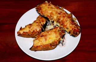 Баклажаны, фаршированные овощами (пошаговый фото рецепт)