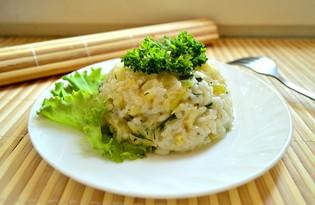 Рис, тушеный с кабачками, капустой и перцем (пошаговый фото рецепт)