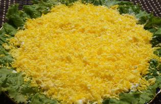 """Салат с курицей, сыром и черносливом """"Солнечный"""" (пошаговый фото рецепт)"""