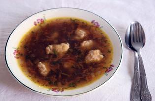 Грибной суп с галушками (пошаговый фото рецепт)
