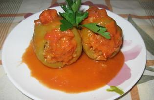 Фаршированный перец с томатом (пошаговый фото рецепт)