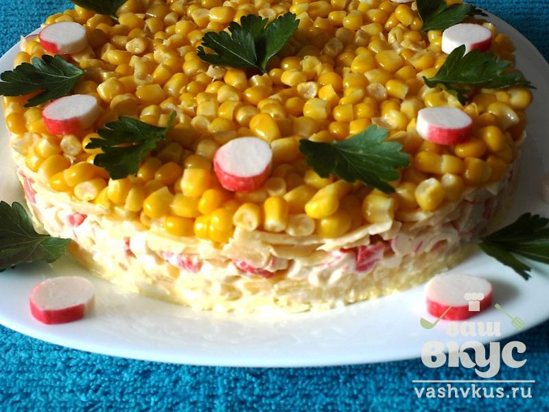 Салат с ананасами и рецепт с фото