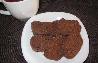 """Мягкое шоколадное печенье """"Ням-ням"""" (пошаговый фото рецепт)"""