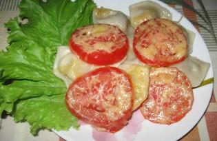 Пельмени с помидорами запеченные в духовке (пошаговый фото рецепт)