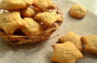 Песочное печенье с кунжутом (пошаговый фото рецепт)
