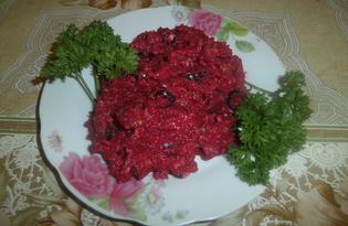 Салат из свеклы и маслин (пошаговый фото рецепт)