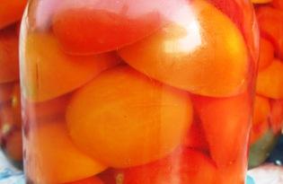 Маринованные помидоры дольками (пошаговый фото рецепт)