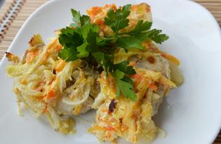 Судак запеченный с овощами (пошаговый фото рецепт)