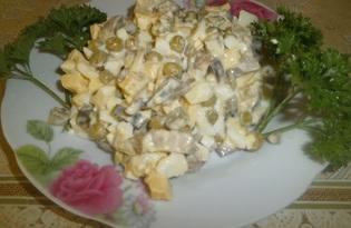 Салат с сердцем и соленым огурцом (пошаговый фото рецепт)