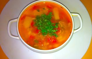 Острый суп с говядиной (пошаговый фото рецепт)
