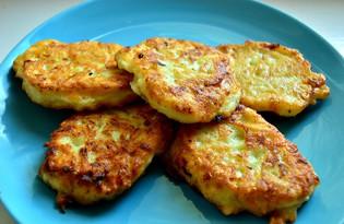 Картофельные драники с кабачками и чесноком (пошаговый фото рецепт)