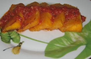 Жареная тыква с томатным соусом (пошаговый фото рецепт)
