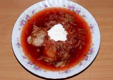 Борщ с фасолью и грибами (пошаговый фото рецепт)